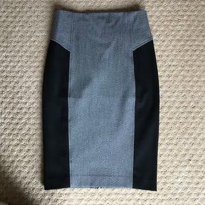 Express pencil skirt zip back